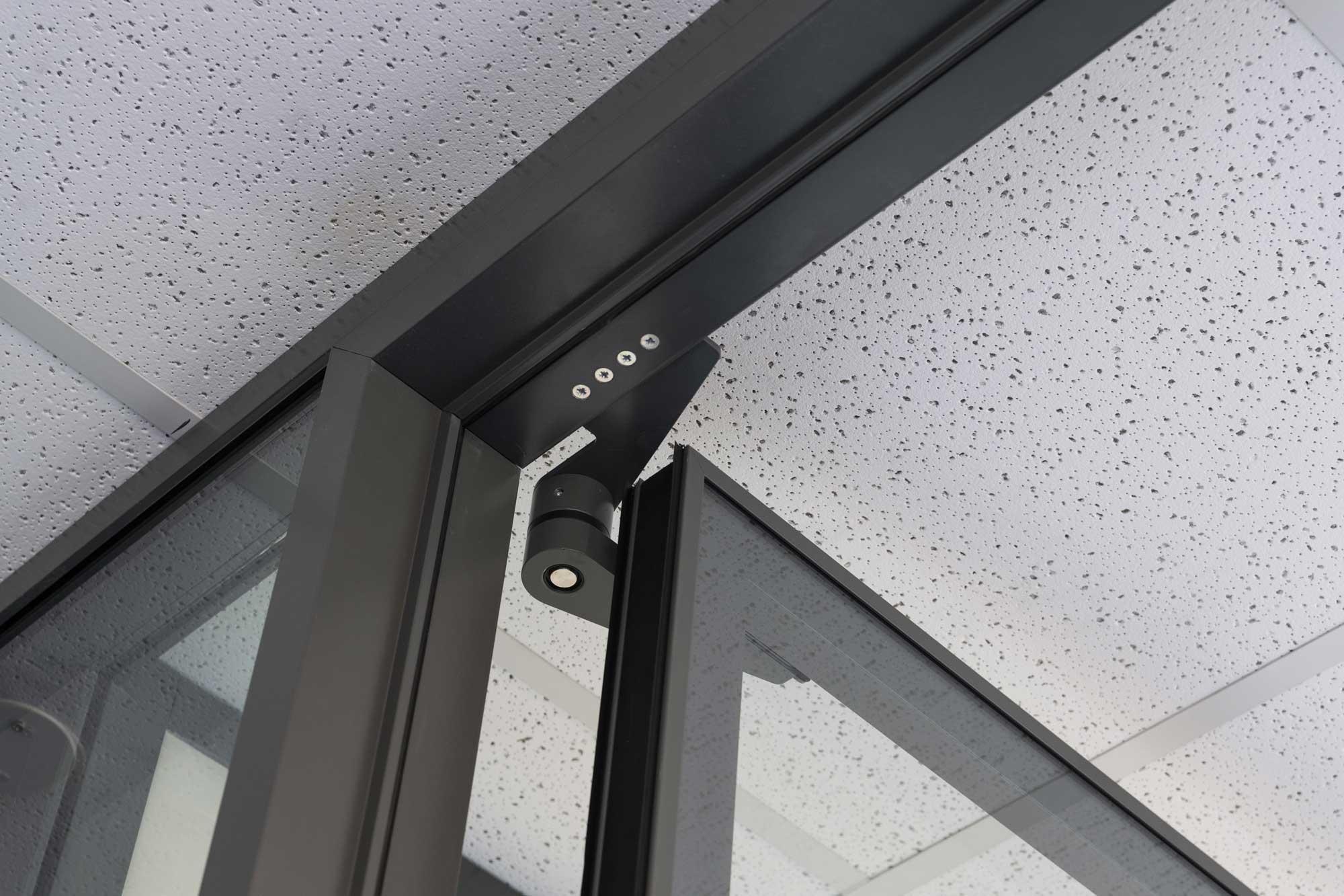 Glazed pivot doors