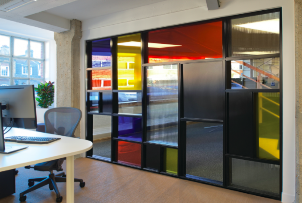 Stained glass partitioning
