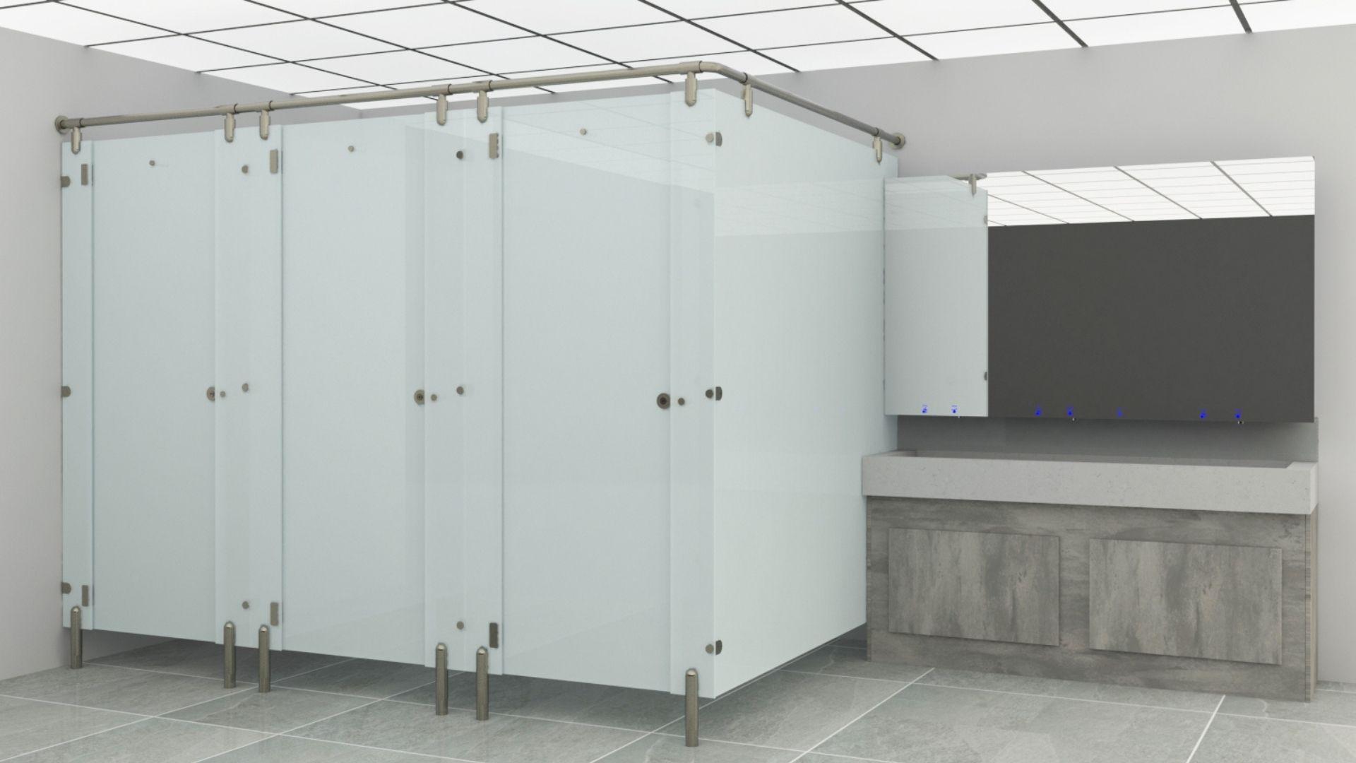 Glass washrooms