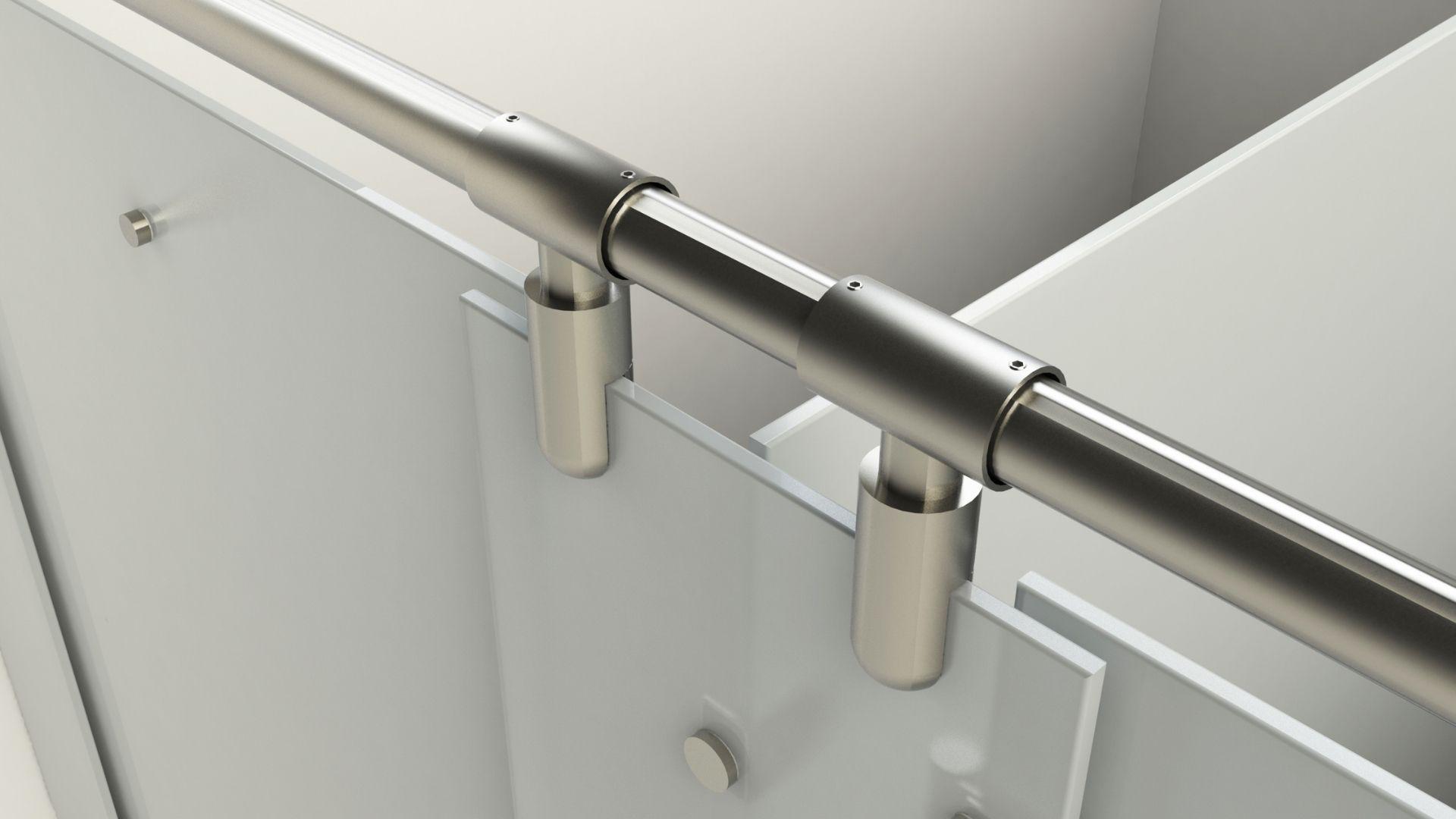 Glass washrooms hinge