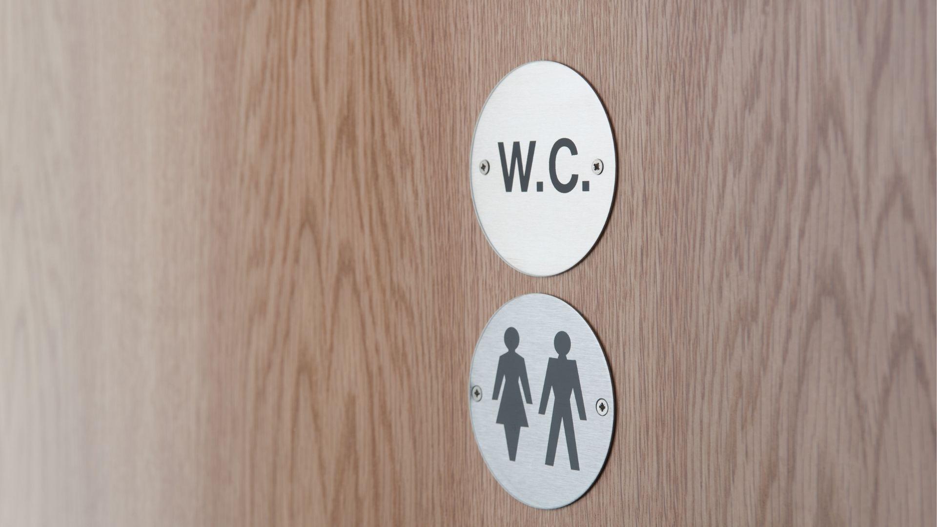 Individual washroom sign